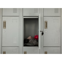 Storage Locker Door with Keys