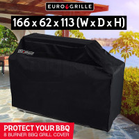 Black Cover for EuroGrille 8 Burner BBQ