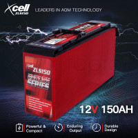 X-CELL AGM Deep Cycle Battery 12V 150Ah Slim Portable Sealed Endure Series - ZLS150
