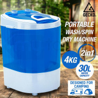 Blue 4kg Spin-Dry 2-in-1 Mini Portable Washing Machine - GPW-4BK