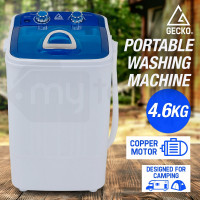 GECKO 4.6kg Mini Portable Washing Machine Camping Caravan Outdoor RV Boat Dry