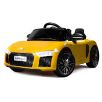 Kids Ride-On Car Licensed AUDI R8 SPYDER Battery Electric Toy Remote 12V Yellow