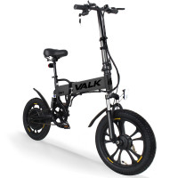 Valk Black 36V Folding Electric Bike - DualShock