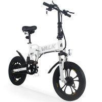 Valk White 36V Folding Electric Bike - DualShock