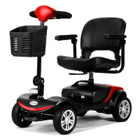 EQUIPMED FreeRoam Electric Motorised Mobility Scooter, Red