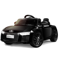 Licensed Audi R8 Spyder 12V Electric Kids Ride On Car Toy, Black