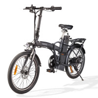 "Nishiro Folding eBike Shimano 36V 250W Electric Bike Battery Black 20"" - Cityhop II"
