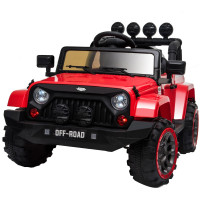 ROVO KIDS Jeep Inspired 4WD Electric Kids Ride On Car Battery Powered 12V, MP3 Player - Red
