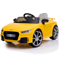 AUDI TT RS Licensed Electric Kids Ride On Car Battery Powered 12V, MP3 Player - Yellow