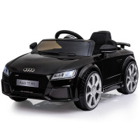 AUDI TT RS Licensed Electric Kids Ride On Car Battery Powered 12V, MP3 Player - Black