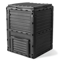 PlantCraft Grey 290L Recycling Composter Aerated Compost Bin