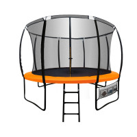 10ft Round Trampoline Basketball Set Safety Net Spring Pad Ladder