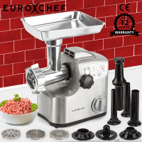 EuroChef Meat Grinder Electric Commercial Mincer Sausage Filler Kebbe Maker - PRE-ORDER - Shipping from 08/07
