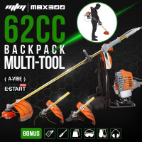 62CC Backpack Brushcutter Line Trimmer Whipper Snipper Brush Cutter Multi