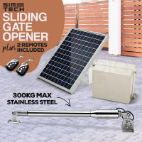 SIMTECH Single Swing Gate Opener 50M-Range Remote Solar Powered Electric 300kg