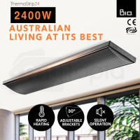 BIO 2400W Outdoor Strip Heater Electric Infrared Radiant Slimline Panel Heat Bar