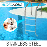 3 Wide Swimming Pool Ladder In-Ground Stainless Non-Slip Steps