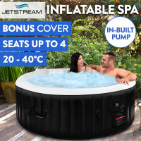 Black 4 Person Inflatable Spa