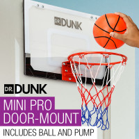 Dr.Dunk Indoor Mini Basketball Hoop Ring Backboard Kit Door Mounted Mount Kid Set