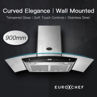 900mm Curved Glass Wall Mounted Rangehood