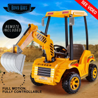 Yellow Digger Kids Ride-On