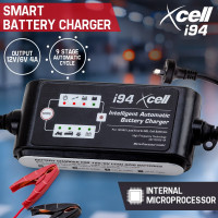 X-CELL 9-Stage Smart Battery Charger 12V/6V 4A Automatic Maintainer Car Deep Bike