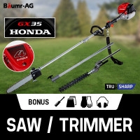 HONDA POWERED Pole Chainsaw Hedge Trimmer GX35 Multi Tool Saw 4-Stroke Petrol