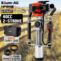 Baumr-AG Petrol Post Driver - 40CC 2-Stroke Pile Star Picket Rammer Fence