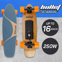 BULLET Electric Skateboard - Motorised Cruiser Board Remote Control Rechargeable