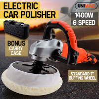 UNIMAC Polisher Car Buffer Electric Detailing Tool 180mm Buff Pad Auto Wax