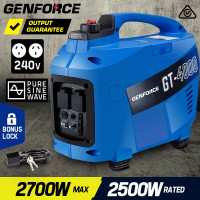 GENFORCE Inverter Generator 2.7kVA Max 2.5kVA Rated Portable Camping Petrol