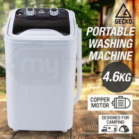 GECKO 4.6kg Mini Portable Washing Machine Camping Caravan Outdoor Boat RV Dry - PRE-ORDER - Shipping from 08/07