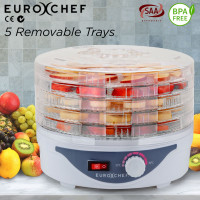 EuroChef 5 Trays Food Dehydrator- Healthy Maker Fruit Preserver Jerky Dryer