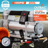 OUTBAC Portable Air Compressor 150PSI 12V 200L Tyre Deflator - OTB600