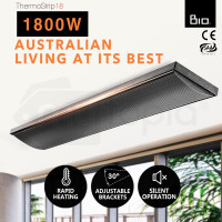 BIO 1800W Outdoor Strip Heater Electric Infrared Radiant Slimline Panel Heat Bar