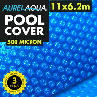 Blue 11 x 6.2m 500 Micron Swimming Pool Cover
