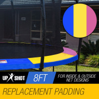 UP-SHOT 8ft Replacement Trampoline Pad Reinforced Padding Spring Round Outdoor