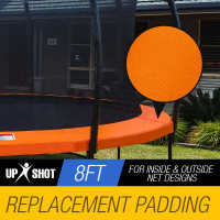 Orange 8ft Replacement Trampoline Pad