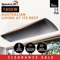 1800W Infrared Outdoor Electric Heater - Spectra 18