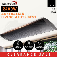 2400W Infrared Outdoor Electric Heater - Spectra 24
