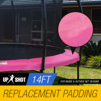 UP-SHOT 14ft Replacement Trampoline Pad Reinforced Springs Outdoor Safety Round