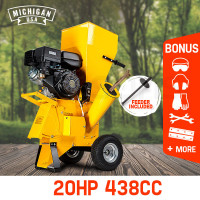 MICHIGAN Commercial Series Wood Chipper Garden Mulcher Shredder Mulch Chip