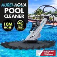 AURELAQUA Swimming Pool Cleaner Floor Climb Wall Automatic Vacuum 10M Hose WT