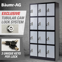 Baumr-AG Black/Grey 12 Door Steel Cabinet Gym Lockers