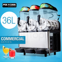POLYCOOL 36L Slushie Machine Granita Commercial Slush Slurpee Maker Slushy Juice
