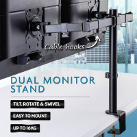 Dual Arm Computer Monitor Stand Indoor Furniture