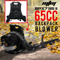 MTM 65CC Petrol Backpack Leaf Blower - Commercial 2 Stroke Garden Yard Tool Back