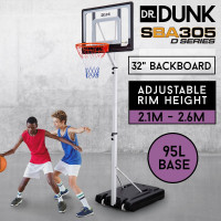 8.5ft Adjustable Portable Basketball Hoop Stand- SBA305 B Series