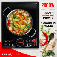 EuroChef Electric Induction Cooktop Portable Kitchen Cooker Ceramic Cook Top - PRE-ORDER - Shipping from 08/07