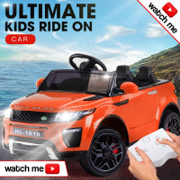 Range Rover Inspired Orange 12V Kids Ride On Car - Evoque